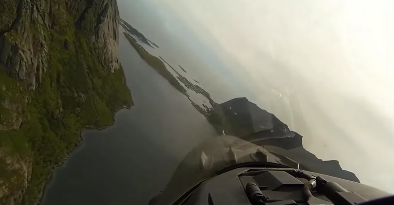 F-16 Cockpit View, Norway